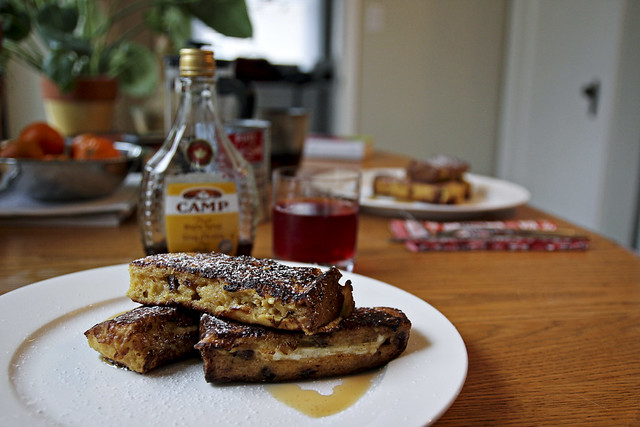 brie-stuffed french toast panettone