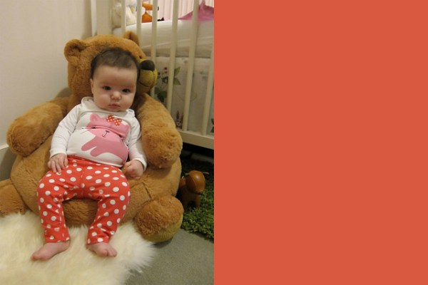 Gwen in the Bear Chair