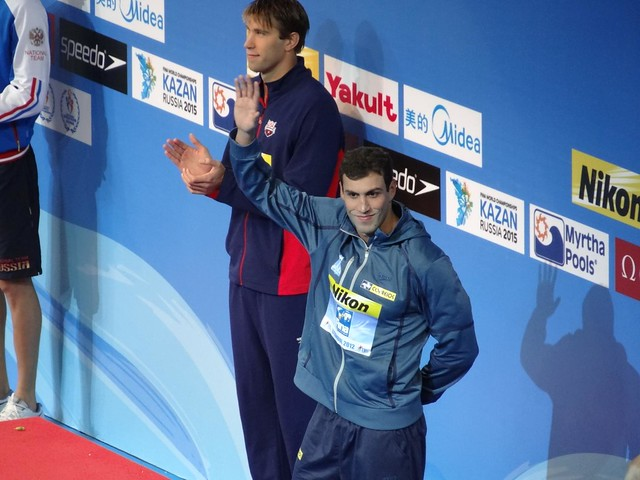 Brazil's Guilherme Guido on the Istanbul 2012 podium
