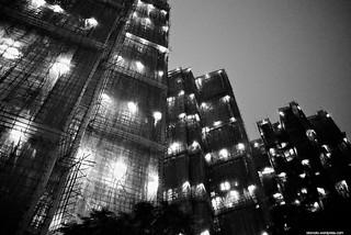 New apartment buildings