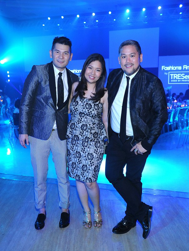 Robbie Carmona, TRESemme Brand Manager Ann Esteves and Rajo Laurel
