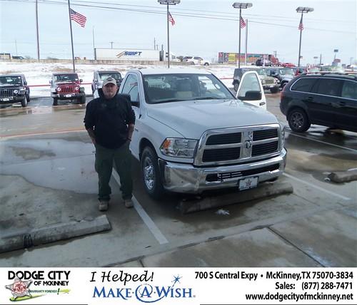 CONGRATULATIONS TO JOHN J BURNS III ON THE 2012 DODGE RAM 2500 by Dodge City McKinney Texas