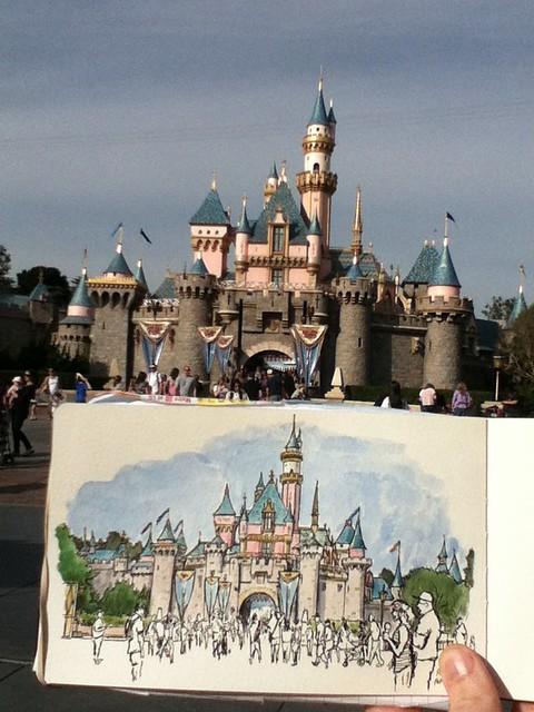 Sketching Disneyland