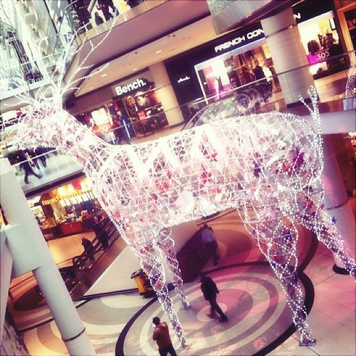 I like the addition of the #reindeer #christmas #eatoncentre