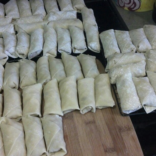 78 spring rolls ready to fry