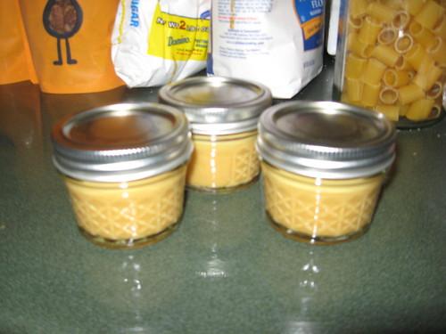 mustard in jars