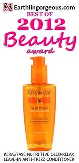 EG Beauty Awards 2012 Kerastase Nutritive OleoRelax LeaveIn