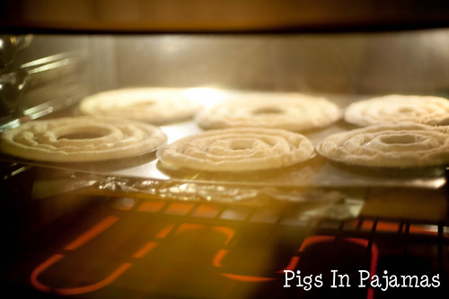 Baking kransekake dough