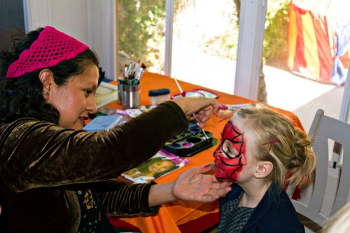 Maddy getting her face painted