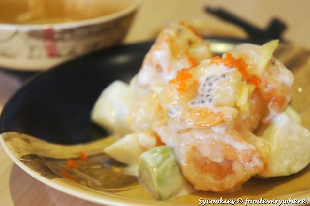 3.Crisp- fried Crystal Prawns in Fruity Salad Sauce RM 29.90 (5)