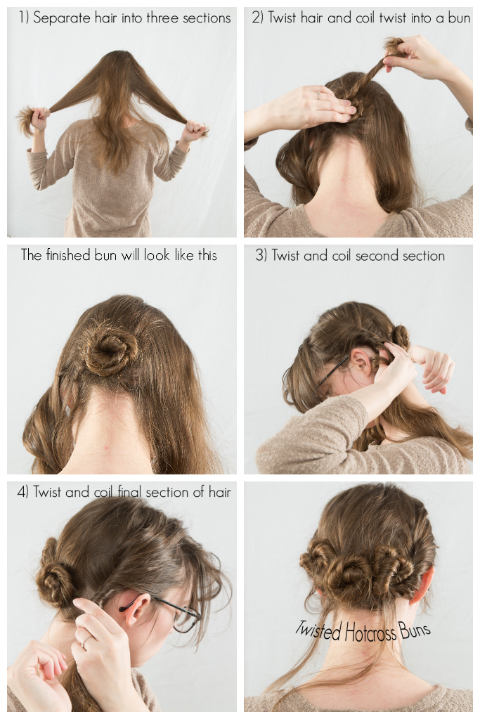 Hair How To Twisted Hotcross Buns Never Fully Dressed