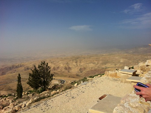 Hills of Jordan as seen from Mount Nebo, where Moses is buried (February 2013)
