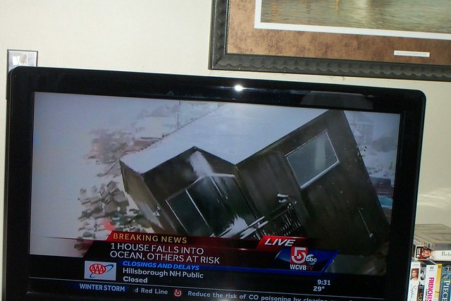 House falls into the sea blizzard of 8 March 2013