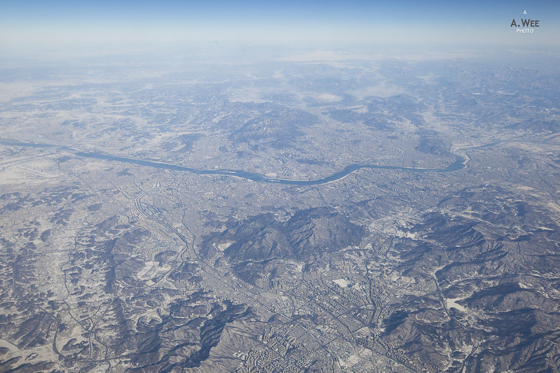 Flying over Seoul