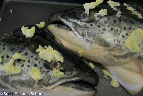 Cooking With Stellaaa: Garlic and Butter Broiled Salmon Heads