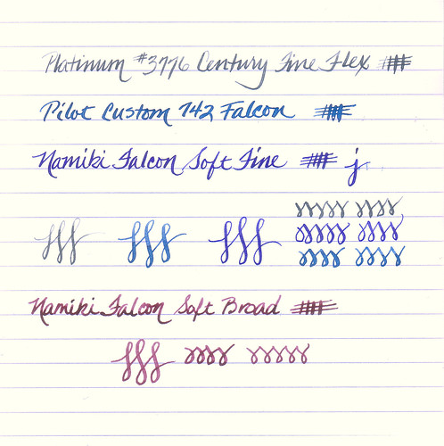 Japanese Flexible Nibs Writing Sample