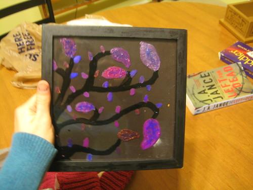 Nail Polish Painting of a Tree