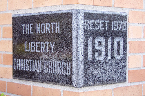 North Liberty Christian Church cornerstone