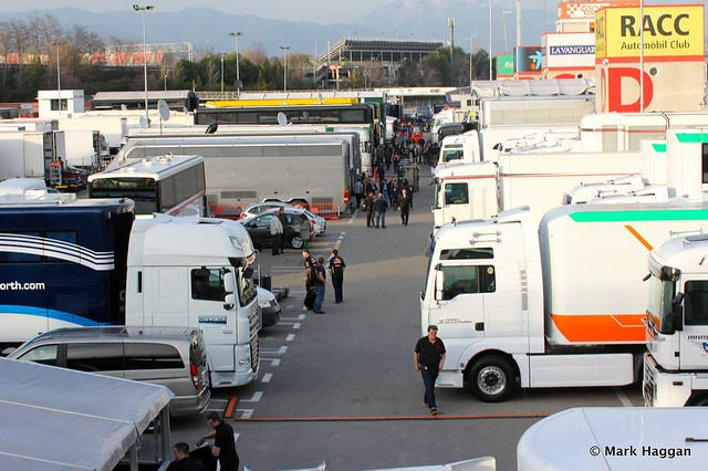 The paddock at Formula One Winter Testing, 3rd March 2013