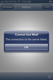 Gmail iPhone cannot connect to server