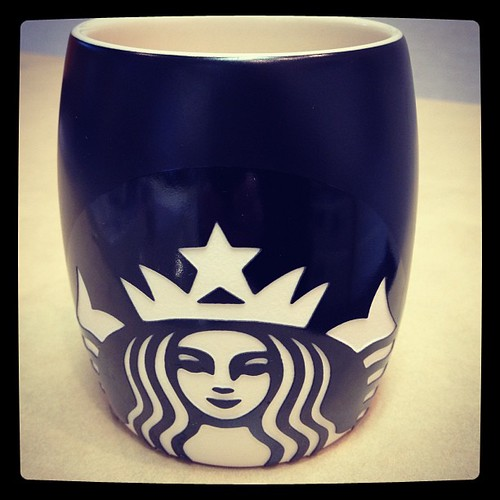 Mar 13 - 'N' {my NEW mug; gift from a friend who knows my addiction} #photoaday #starbucks #coffee