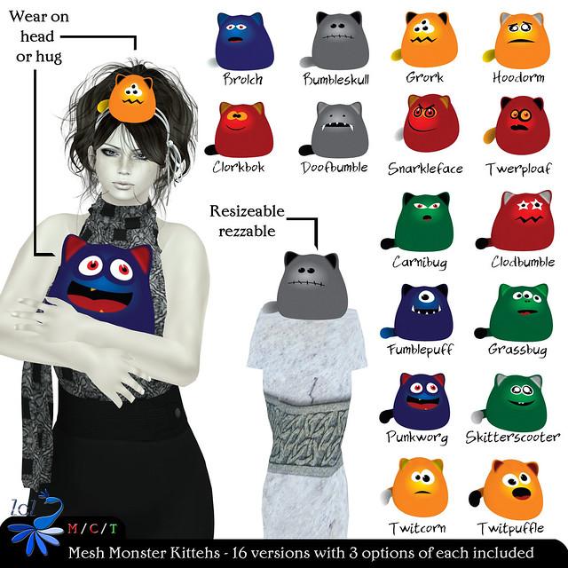 ZcZ Monster Kittehs Gacha Vendor Ad