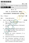 UPTU MCA Question Papers - MCA-401 - Management Information System