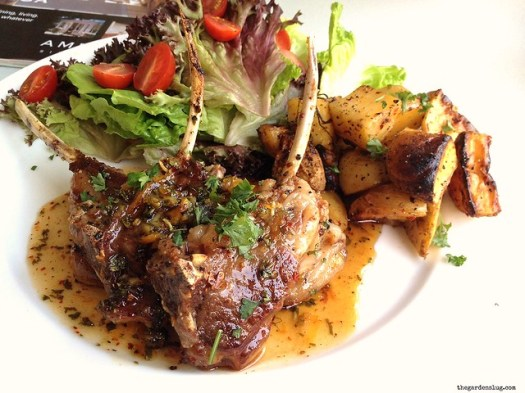 spice 'n' herb-rubbed lamb chops