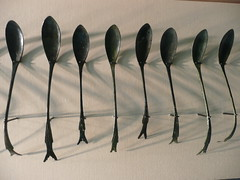 Korean metal spoons