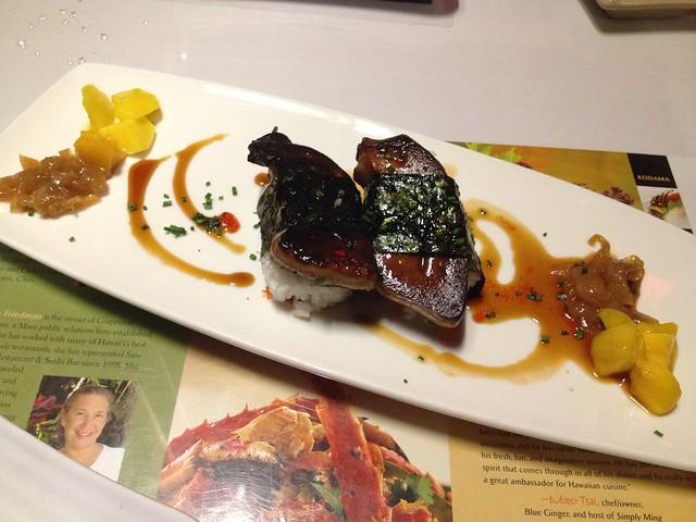 Seared foie gras nigiri sushi - Sansei Seafood Restaurant
