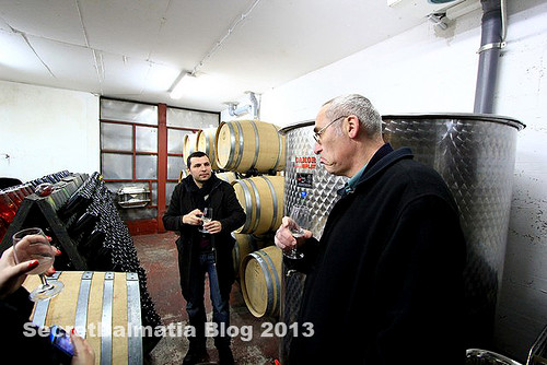 Milan Grabovac giving us a tour