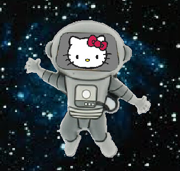 Persian Kitty in Space!