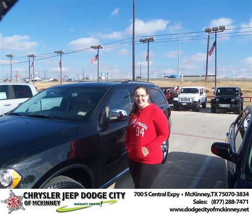 Congratulations to Jeff Sutherland on the 2013 Dodge Durango by Dodge City McKinney Texas