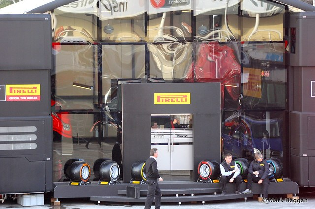 The Pirelli centre at Formula One Winter Testing, 3rd March 2013