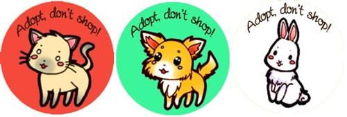 NUS PEACE Puppy Mill badges