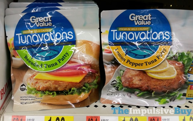 Great Value Tunavations (Breaded Tuna Patty and Lemon Pepper Tuna Patty)