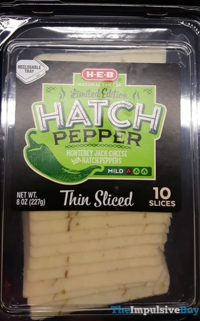 H-E-B Hatch Pepper Monterey Jack Cheese Slices