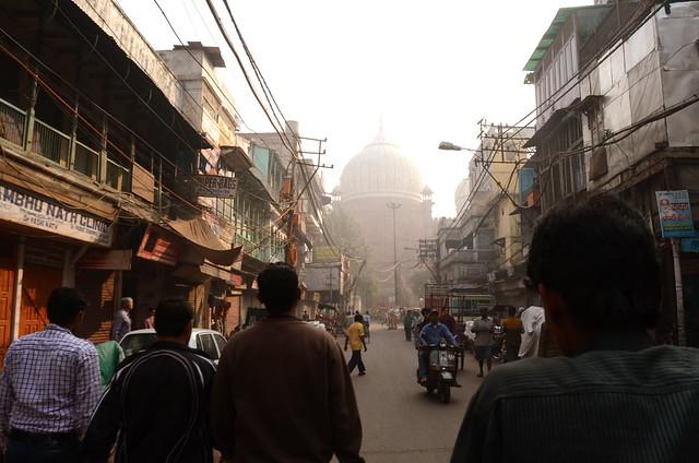 delhi, old delhi, jama masjid, india, rickshaw, streets, rickshaw-wallah