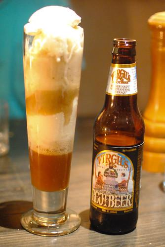 Root Beer Float Housemade Vanilla Ice Cream, Henry Weinhardt's Root Beer and Cream