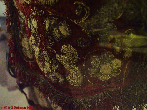 Mid 17th Century embroidered saddle