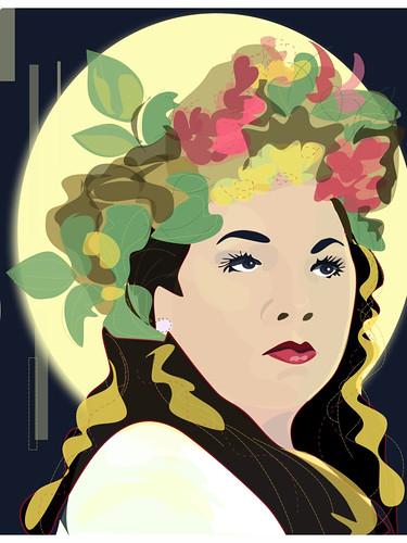 Regina Stargazer - Dr. Sketchy NNJ-iPad-art