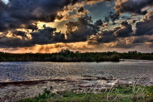 Loxahatchee Wildlife Refuge Sunset 2 by Roberto_Aloi