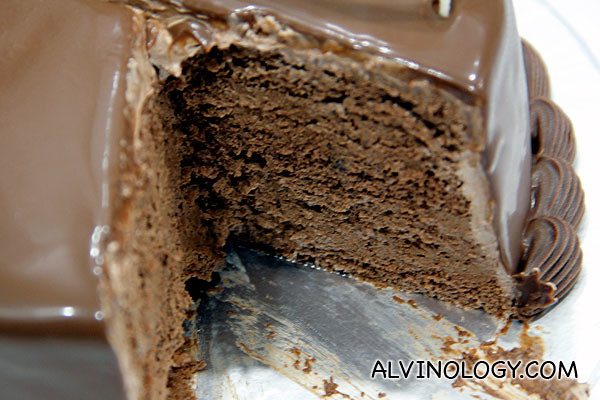The inside of the cake