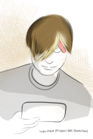 """""""Cool Fringe"""" (#31: Project 365 Sketches)"""