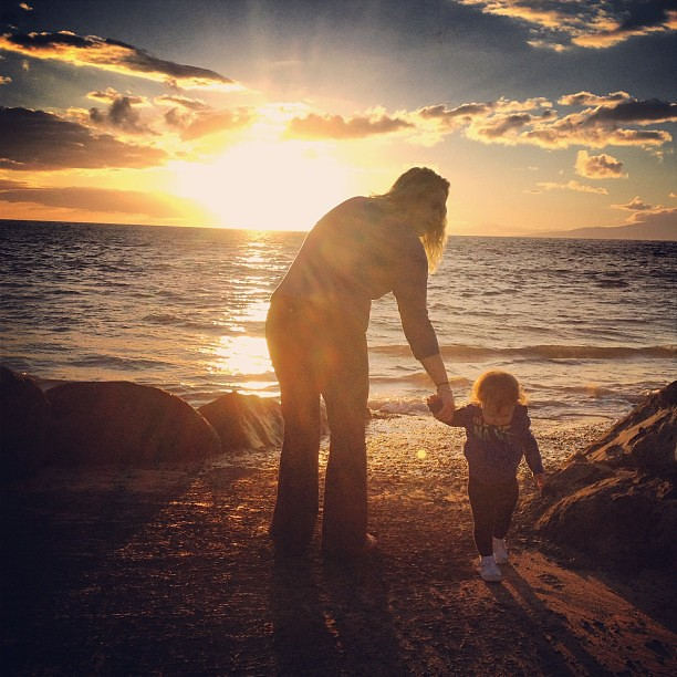 My sister @morgan__hicks and my niece Keeley