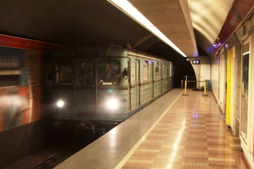 BKV operated Metrovagonmash type 'Ev' train in Budapest