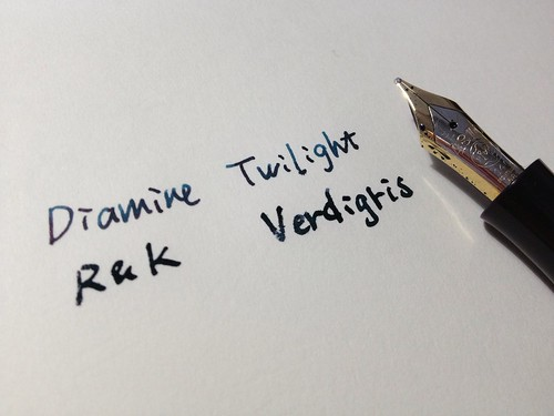 Diamine Twilight & R&K Verdigris