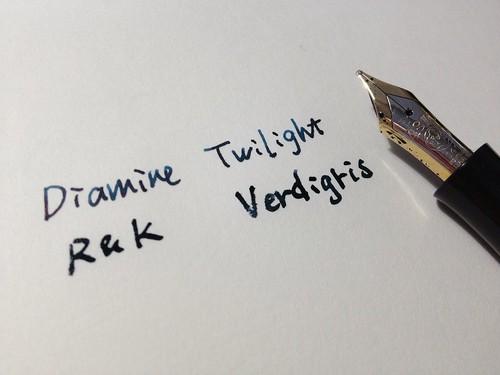 Diamine Twilight & R&K Verdigris