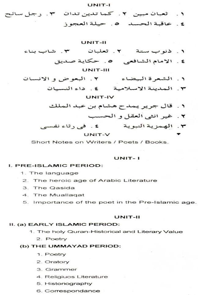 AMU Syllabus  - Social Science - B. Ed. (Arabic)