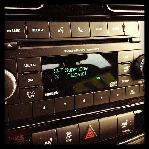 Mar 13 - sound {love listening to my satellite radio on my way to work} #fmsphotoaday